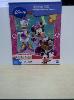 Minnie Mouse & Daisy Duck 9 Piece Woodboard Puzzle Toys & Games