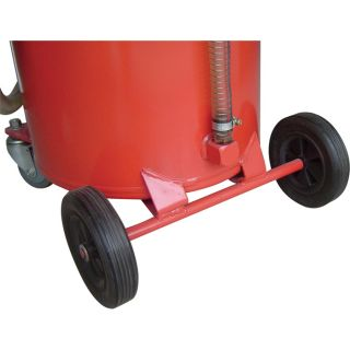 Wel-Bilt Oil Drain with Casters — 20 Gallons  Low Profile