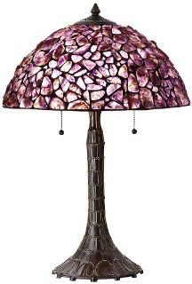 Cal Lighting BO 2404TB Table Lamp with Stained Glass Shades, Antique Bronze Finish