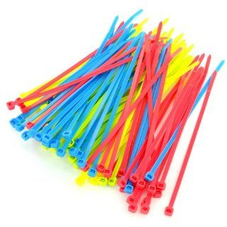 Leviton 12540 1NE 8 Inch Cable Ties, Assorted Neon Colors, 100 Pack