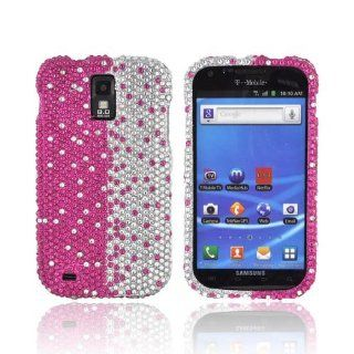 Hot Pink/ Silver Gems Bling Samsung Galaxy S2 Hard Case Cover; Fashion Jeweled Snap On Plastic Case; Perfect Fit as Best Coolest Design Cases for Galaxy S2/Samsung S2 Compatible with Verizon, AT&T, Sprint,T Mobile and Unlocked Phones Cell Phones &