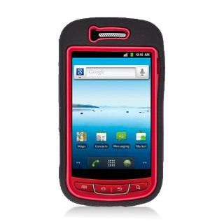 Eagle Cell PASAMR720SPSTRDBK Advanced Rugged Armor Hybrid Combo Case with Kickstand for Samsung Admire / Vitality R720   Retail Packaging   Red/Black Cell Phones & Accessories