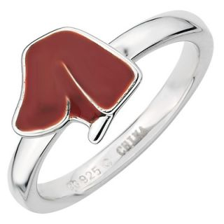 Stackable Expressions™ Polished Brown Enameled Dog Silhouette Ring