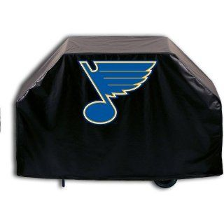 St. Louis Blues Grill Cover with Music Note logo on stylish Black Vinyl by Covers by HBS  Sports Fan Grill Accessories  Sports & Outdoors