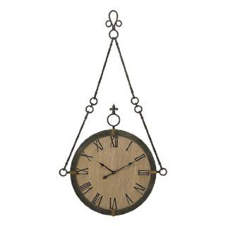 "47"" Oversized Antique Roman Numeral Iron Hanging Wall Clock"