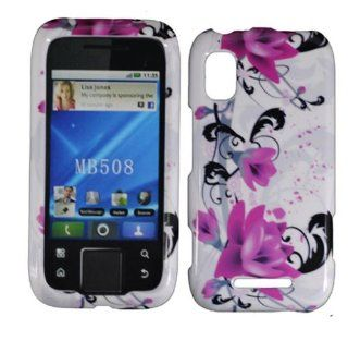 Purple Lily Hard Case Cover for Motorola Flipside MB508 Cell Phones & Accessories
