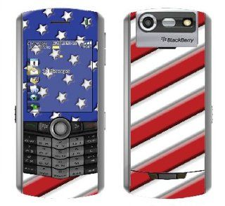 "System Skins ""American Flag 1"" Skin Decal for BlackBerry Pearl 8130 Cell Phone   Includes FREE Wallpaper Cell Phones & Accessories"