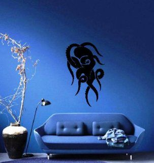 Octopus Swirls Abstract Silhouette Ocean Marine Sea Decor Wall Mural Vinyl Art Decal Sticker M492