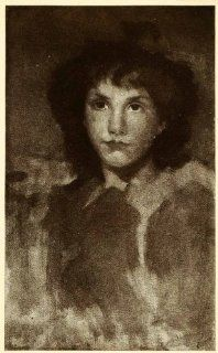 1911 Print James Abbott McNeill Whistler Art Girl Portrait J. Staats Forbes   Original Halftone Print