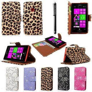 Cellularvilla (Tm) Case for Nokia Lumia 521 PU Leather Wallet Card Flip Open Case Cover Pouch. (Only Fit Nokia Lumia 521) (Brown Leopard) Cell Phones & Accessories