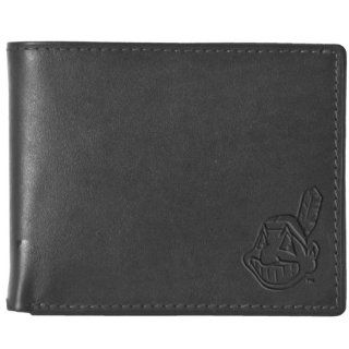 Pangea MLB Cleveland Indians Black Leather Wallet  Sports Fan Wallets  Sports & Outdoors