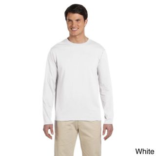 Gildan Mens Softstyle Cotton Long Sleeve T shirt White Size 3XL