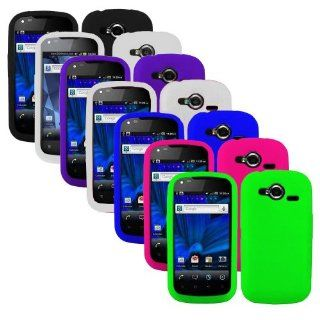 Importer520 7in1 Combo Silicone Rubber Gel Soft Skin Case Cover for Pantech Burst P9070 9070, White x 2 Black Green Purple Blue Pink Cell Phones & Accessories