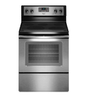 "Whirlpool WFE520C0AS 30"" Stainless Steel Electric Smoothtop Range Appliances"