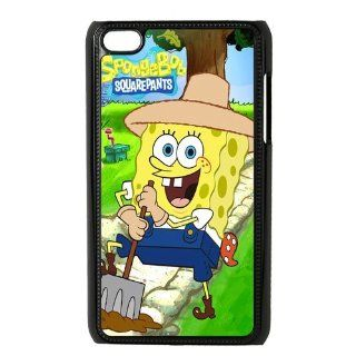 Cute SpongeBob Squarepants iPod 4 Case Cover Cell Phones & Accessories
