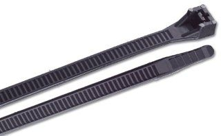 Gardner Bender 45 524UVBSP 24 Inch Ultraviolet Black Heavy Duty Cable Ties, 10 Pack