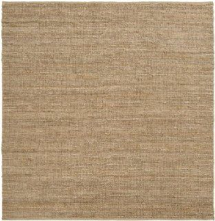 8' x 8' Crestele Solid Dark Beige Hand Woven Square Jute Area Throw Rug   Handmade Rugs