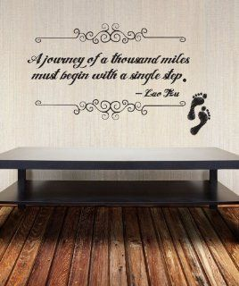 Stickerbrand Vinyl Wall Decal Sticker Lao Tzu Journey Quote OS_DC529s   Wall Decor Stickers