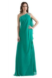 GEORGE BRIDE Goddness Chiffon One shoulder Evening Gowns