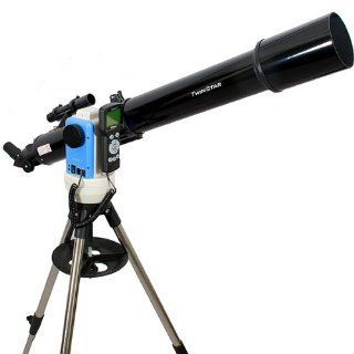 TwinStar Black 90mm iOptron Computerized GPS Refractor Telescope Toys & Games