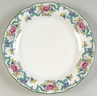 Royal Doulton Floradora Green Dinner Plate, Fine China Dinnerware   Fine China,F
