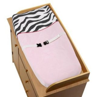 Sweet Jojo Designs Pink Zebra Changing Pad Cover