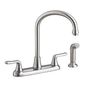 American Standard 4275.551.075 Colony Soft 2 Handle High Arc Kitchen Faucet with Side Spray, Stainless Steel   Touch On Kitchen Sink Faucets