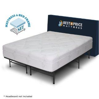 "Luxtouch 12"" Memory Foam Mattress + Bed Frame Set   California King   No Box  Mattress And Box Spring Sets"