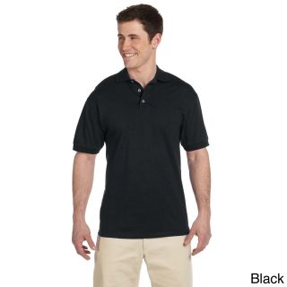 Jerzees Mens Heavyweight Cotton Jersey Polo Shirt Black Size XXL