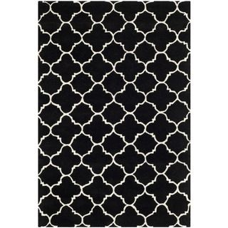 Safavieh Chatham Black Handmade Moroccan Contemporary Wool Rug (4 X 6)