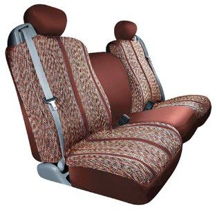 Saddleman Custom Fit Front Bucket Seat Covers   Saddle Blanket Fabric (Wine) Automotive