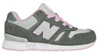New Balance KL565 Running Shoe (Little Kid), Grey/Pink, 13.5 M US Little Kid Fashion Sneakers Shoes