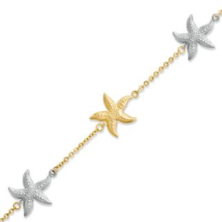 Starfish Bracelet in 14K Two Tone Gold   Zales