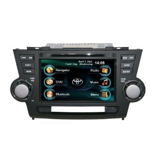 OEM REPLACEMENT IN DASH RADIO DVD GPS NAVIGATION HEADUNIT FOR TOYOTA HIGHLANDER/KLUGER WITH REAR VIEW CAMERA  In Dash Vehicle Gps Units  GPS & Navigation