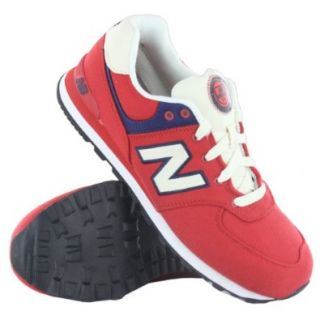 New Balance KL 574 Classics Traditionnels Red Youths Trainers Size 7 US Shoes Shoes
