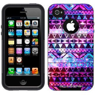 Otterbox Commuter Series Nebula Black Aztec Galaxy Hybrid Case for Apple iPhone 4 & 4S Cell Phones & Accessories