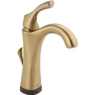 Delta 592T CZ DST Addison Single Handle Lavatory Faucet with Touch2O.xt Technology, Champaign Bronze   Touch On Bathroom Sink Faucets