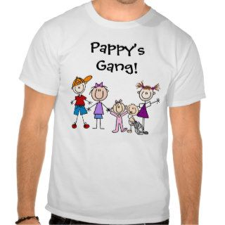 Customized Stick Figure Kids Family T shirts