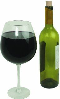 Oversized Extra Large Giant Wine Glass   750 ml   Holds a full bottle of wine Kitchen & Dining