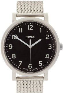 Timex Men's IQ T2N602 Silver Stainless Steel Quartz Watch with Black Dial Timex Watches