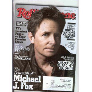 Rolling Stone 2013 September 26 (On the cover Michael J.Fox) Rolling Stone Books