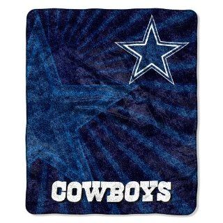 Dallas Cowboys NFL 50x60 Sherpa Throw Blanket  Sports Fan Throw Blankets  Sports & Outdoors