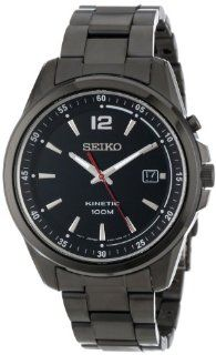 "Seiko Men's SKA605 KINETIC "" Exclusive"" Black Ion Plated Stainless Steel Watch at  Men's Watch store."