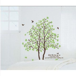 DIY Large Wall Quote Decor Art Decal Sticker Removable Green Tree Leaves Birds Kitchen & Dining