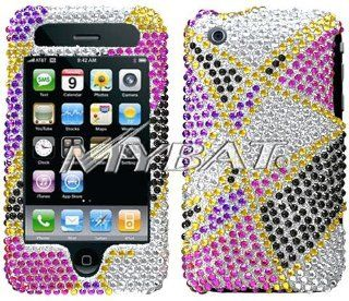 iPhone 3G / 3GS Bling Crystal Diamond Abstract Design Protector Case Cell Phones & Accessories
