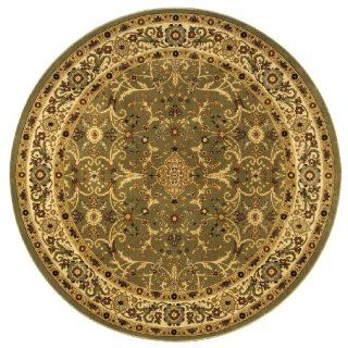 Shaw Living Kathy Ireland Home Gallery 8 Foot 4 Inch Round Rug in Garden Fantasy Pattern, Sage   Machine Made Rugs