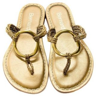 Bernardo Medieval Woven Women's Flat Thong Sandals Gold (6, Gold) Shoes