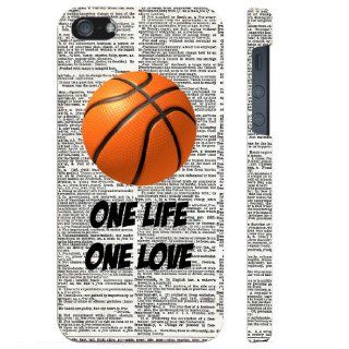 SudysAccessories Basketball One Life One Love On Dictionary iPhone 5 Case iPhone 5G Case   SoftShell Full Plastic Direct Printed Graphic Case Cell Phones & Accessories