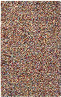 Shop 8' x 10' Fiesta Splash Multi Colored Hand Woven Medium Pile Felted Wool Area Throw Rug at the  Home D�cor Store