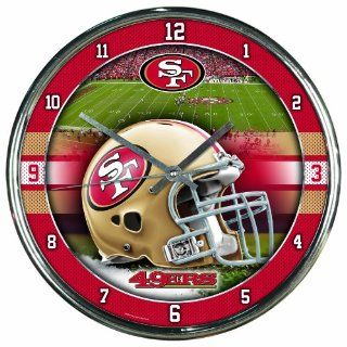 NFL San Francisco 49Ers Chrome Clock  Sports Fan Alarm Clocks  Sports & Outdoors